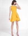 Wrap Dress With Asymmetric Layered Hem