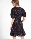 Sleeved Polka Dotted Dress