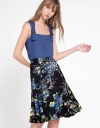 Mid-Rise Floral Printed Skirt