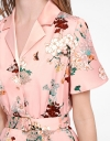 Sleeved Floral Printed Shirt Dress