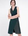 Geometric Color Block A-Line Dress