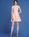 Sleeveless Jacquard A-Line Dress