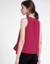 Sleeveless Top With Ruffled Hem