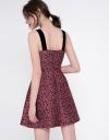 Strappy Printed A-Line Dress