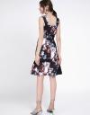 Cold-Shoulder Floral Dress