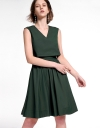 Layered A-Line Dress With Tied Detail