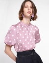 Sleeved Polka Dotted Top