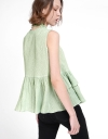 Tied Blouse With Layered Hem