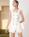 Strappy Romper With Button Front