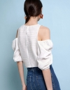 Cold-Shoulder Gathered Top