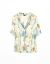 Sleeved Abstract Printed Shirt