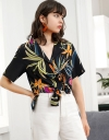 Sleeved Botanic Printed Shirt