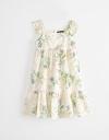 Cold-Shouldered Floral Printed Dress