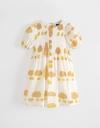 Abstract Printed Smock Dress