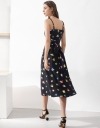 Floral Printed Strappy Midi Dress