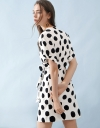 Sleeved Wrap Polka Dotted Dress