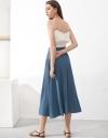 Ribbed Wrap Midi Skirt