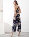 Sleeveless Printed Wide-Leg Jumpsuit