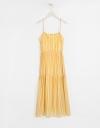 Strappy Striped Midi Dress