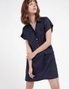 Capped Sleeved Shirt Dress