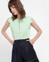 Relaxed Top With Scalloped Sleeves