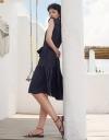 Sleeveless Shirt Dress With Belt