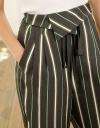 High-Waist Rayon Tied Pants