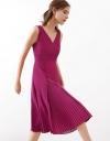 A-Line Midi Dress With Pleated Hem