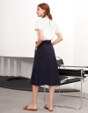 Midi Skirt With Tied Waist