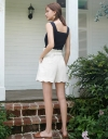 High Waist Scalloped Shorts