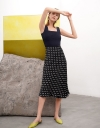 A-Line Rayon Midi Skirt
