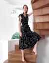 Sleeveless Dotted Midi Dress