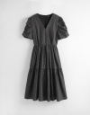 Wrap Midi Dress In Check