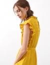 Seersucker Dress With Ruffles