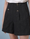 Tweed Shorts With Button Front