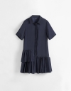 Shirt Dress With Gathered Hem