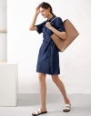 Shirt Dress With Twisted Front