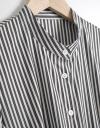 Shirt Striped Dress With Belt