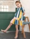 Multicolored Striped Shift Dress