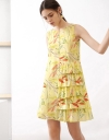 Printed Dress With Cascading Layers