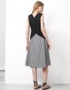 Sleeveless V-Neckline Midi Dress