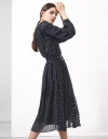 Long Sleeve Pleated Midi Dress