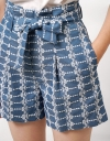 Embroidery Paperbag Shorts
