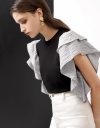Frilly Contrast Top