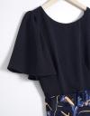 Contrast Floral-Mix Dress