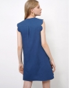 Shift Dress with Curved Detail