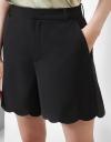 Curved Hem Shorts
