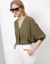 Oversized Blouse With Pleat