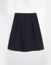 Pleated Bermuda Short