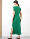 Maxi Shoulder Pad Dress